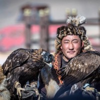 Spring Golden Eagle Festival in Mongolia